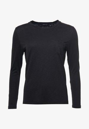 POCKET LONG SLEEVE CREW  - Long sleeved top - black