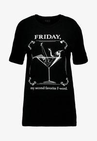 Merchcode - LADIES WORD TEE - T-shirt imprimé - black - 3