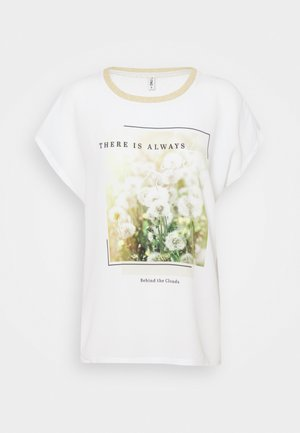 ONLRHINA LIFE FLOWER - Print T-shirt - bright white