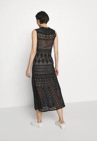 MRZ - SEETHROUGH DRESS - Pletené šaty - black - 2