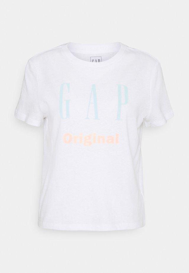 ORIG SHRUNKEN TEE - Print T-shirt - optic white