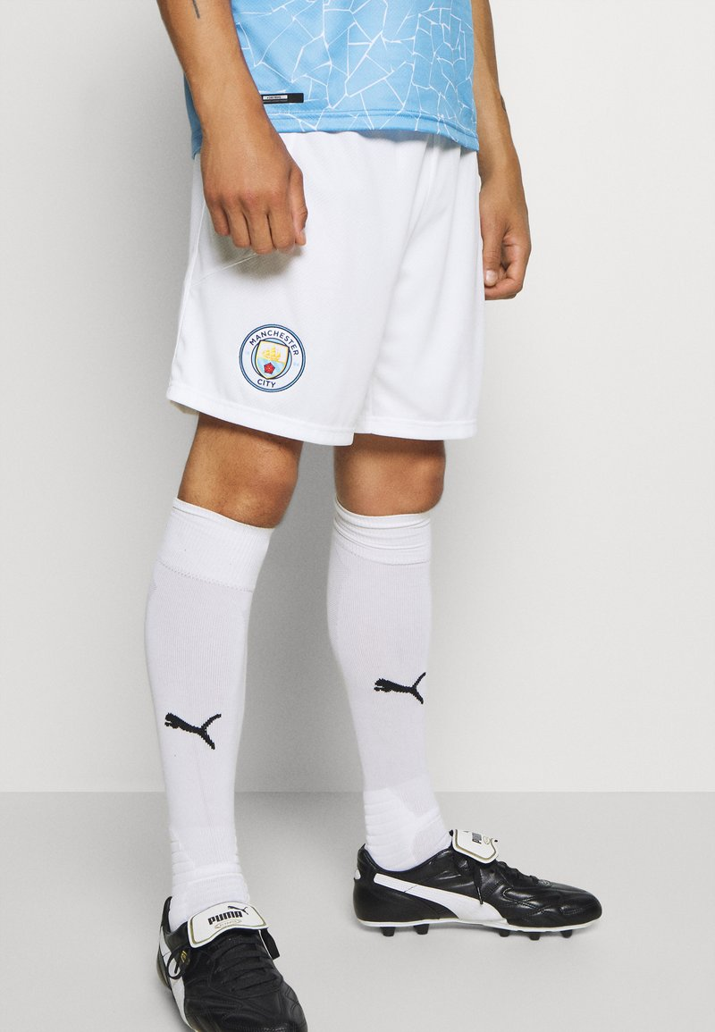 Puma - MANCHESTER CITY REPLICA - Träningsshorts - white/peacoat