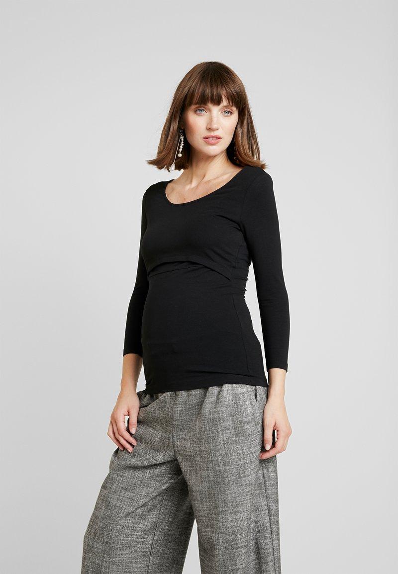 Zalando Essentials Maternity - 2 PACK - Topper langermet - off-white/black
