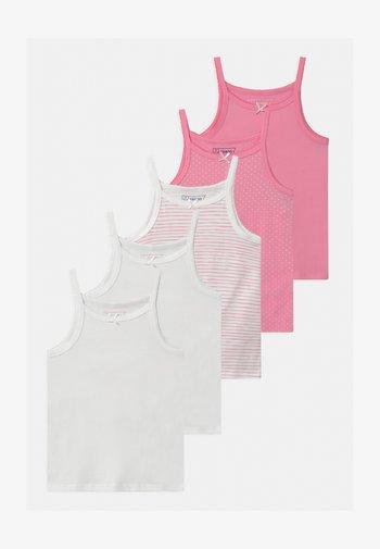 5 PACK - Undertrøjer - white/pink