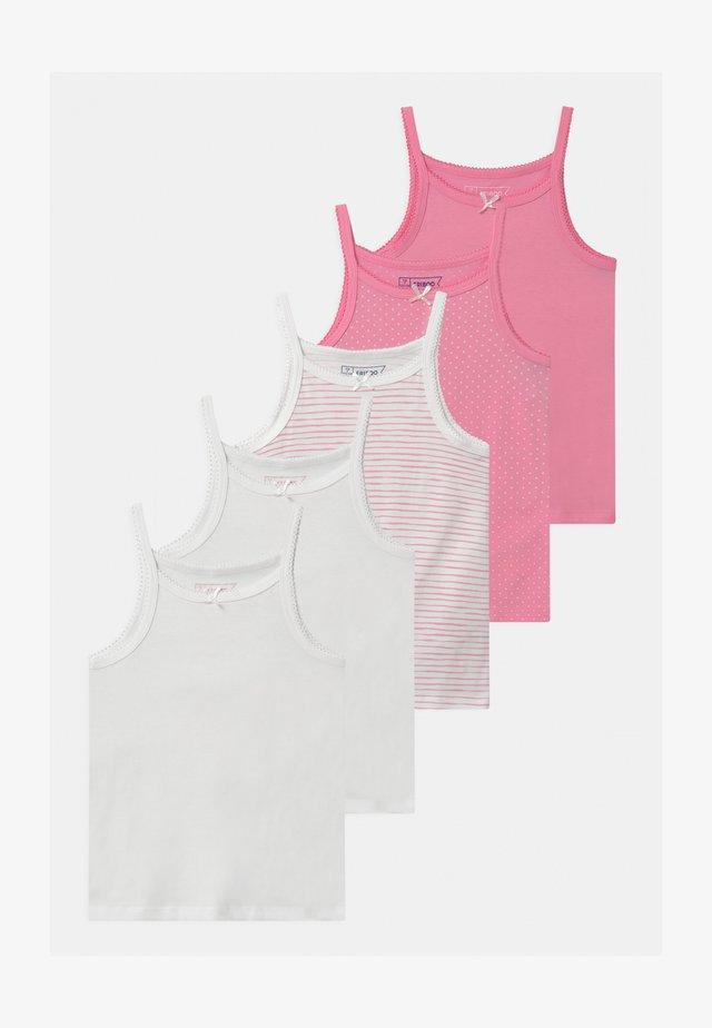 5 PACK - Hemd - white/pink