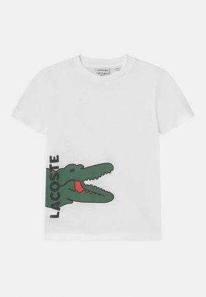TEE TURTLE NECK LOGO UNISEX - T-shirts print - blanc