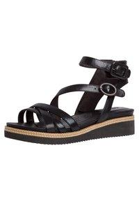 Tamaris - Ankle cuff sandals - black/metallic - 1