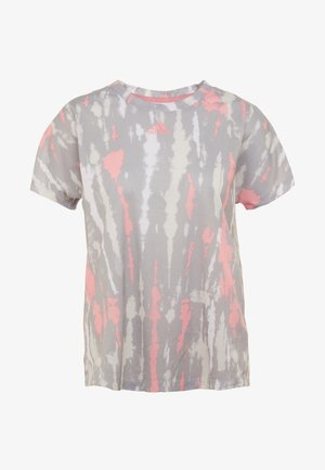 TEE - Camiseta estampada - white/medium grey/glow pink