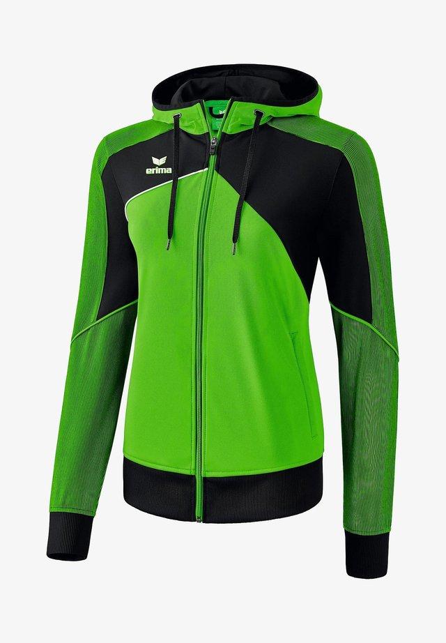 PREMIUM ONE 2.0 TRAININGSKAPUZENJACKE DAMEN - Training jacket - grün / schwarz