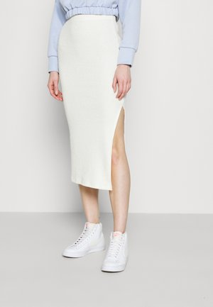 COSEY MIDI - Pencil skirt - ecru