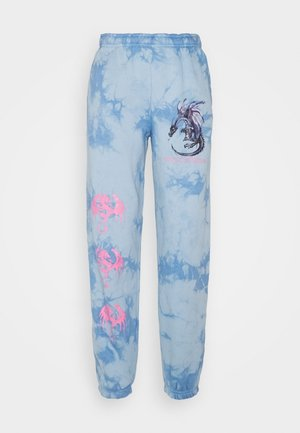 DRAGON TIE DYE JOGGER - Tracksuit bottoms - blue