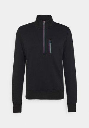 REG FIT ZIP TOP - Sweater - black