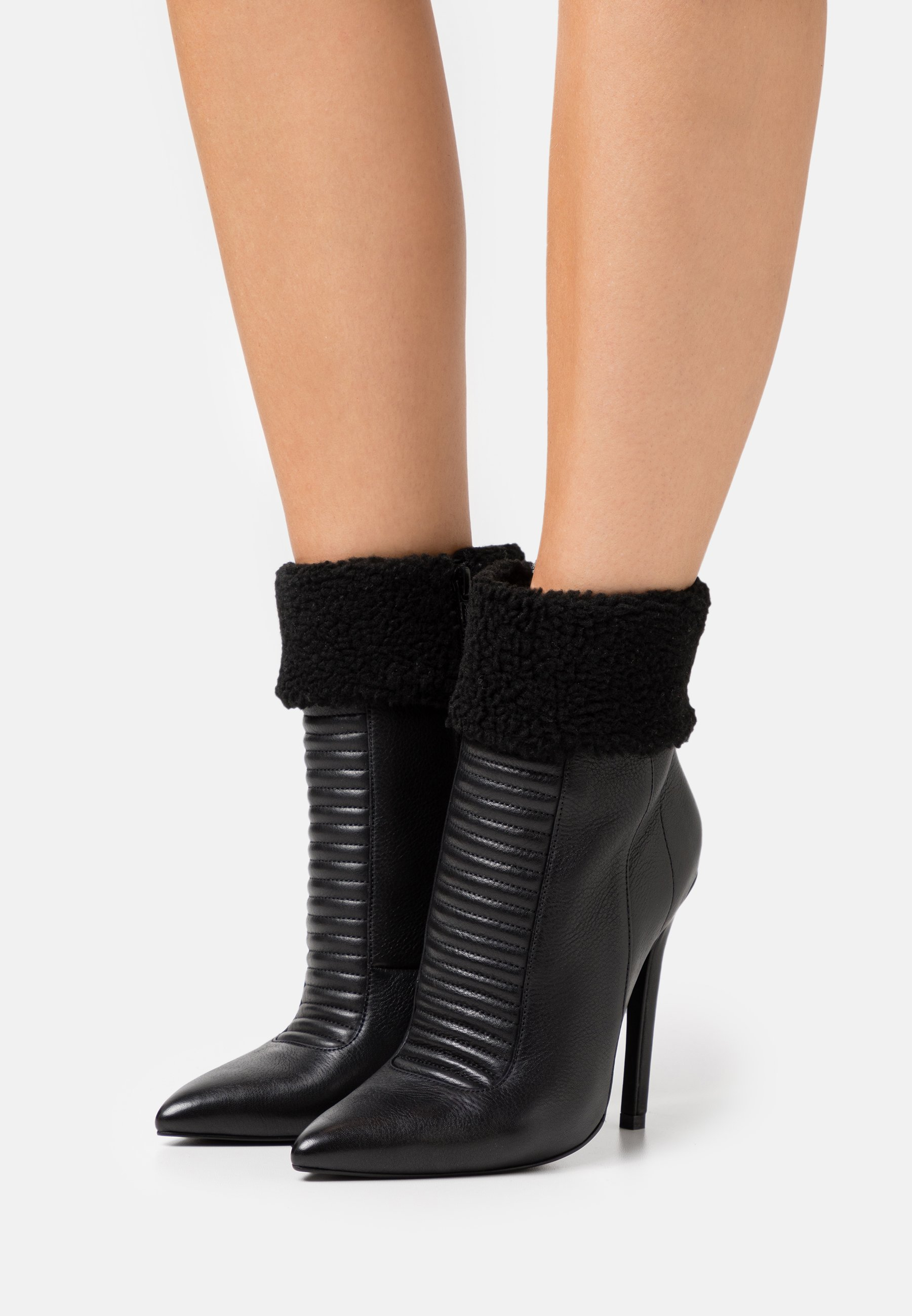 Women LEATHER - Winter boots - black