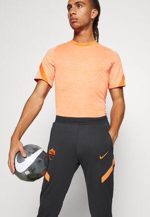 AS ROM DRY PANT - Club wear - black/safety orange