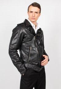 Freaky Nation - HOUSTON CITY - Leather jacket - black - 3