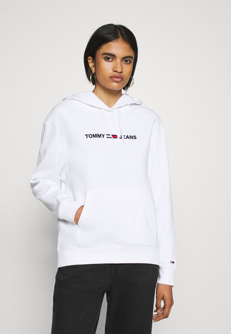 Tommy Jeans - LINEAR LOGO - Sweat à capuche - white