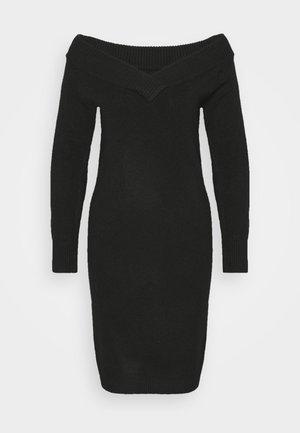 VIELLA VNECK DRESS - Jumper dress - black