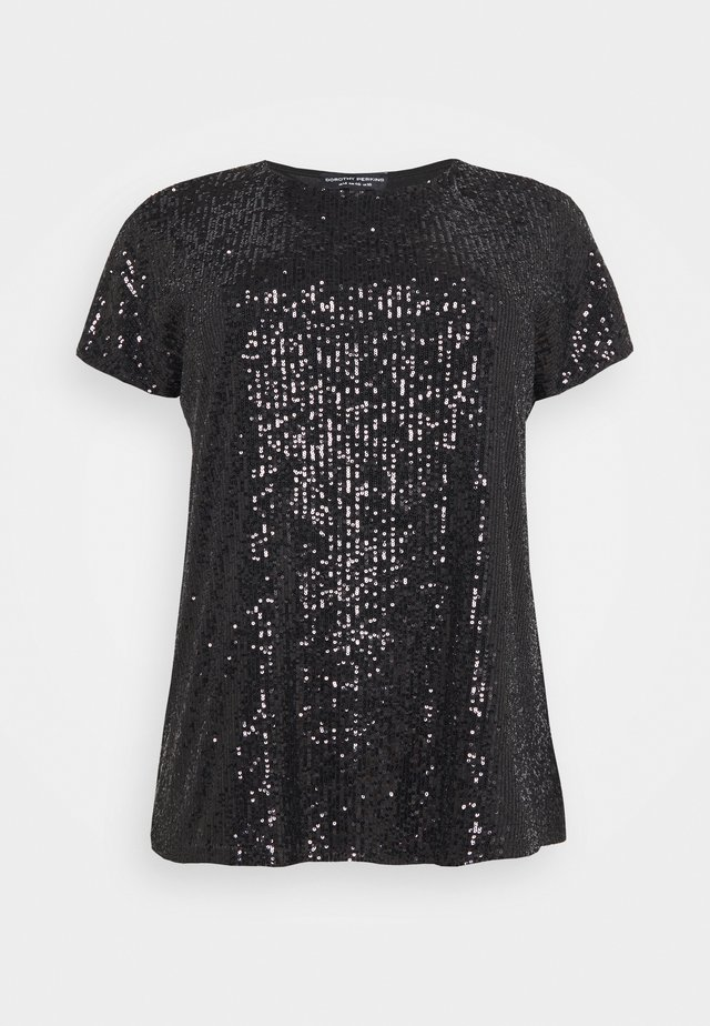 SEQUIN - Print T-shirt - black