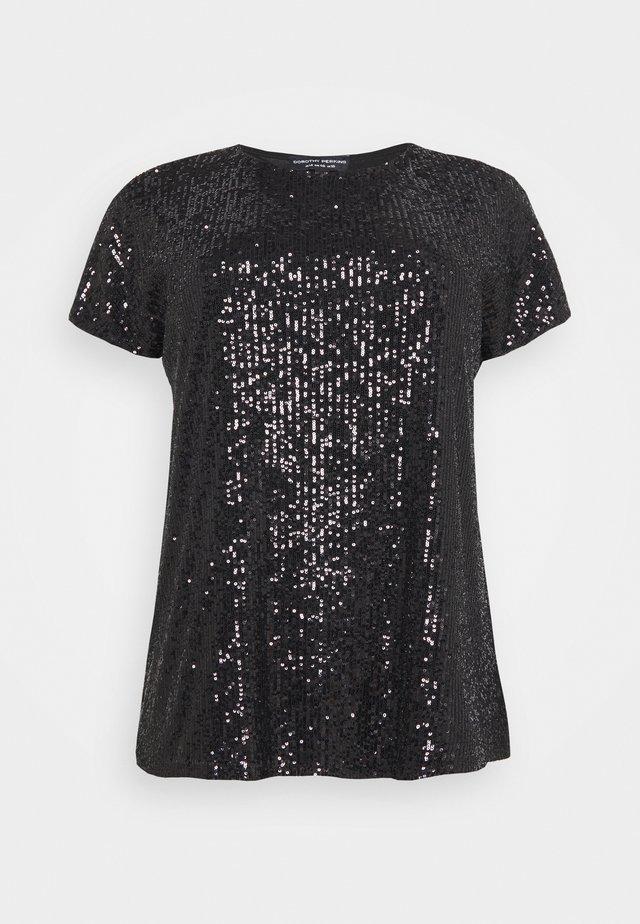 SEQUIN - T-shirt imprimé - black
