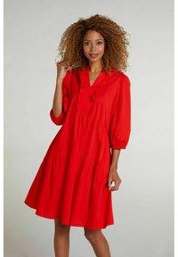 Oui - Day dress - fiery red - 0