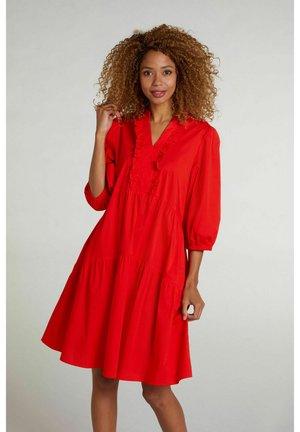 Day dress - fiery red