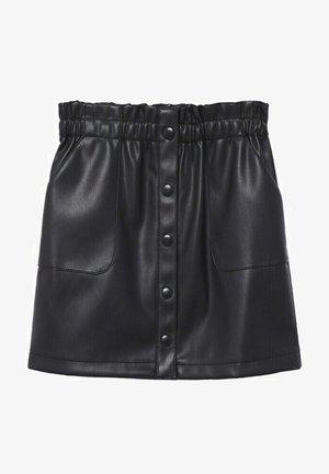 BOUTONS - A-line skirt - noir