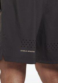 Reebok - LES MILLS ATHLETE - Pantalón corto de deporte - black - 4