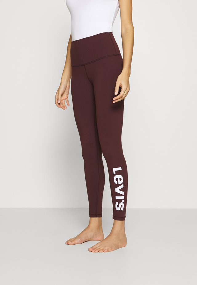 OFF DUTY LEGGING - Pantaloni del pigiama - malbec