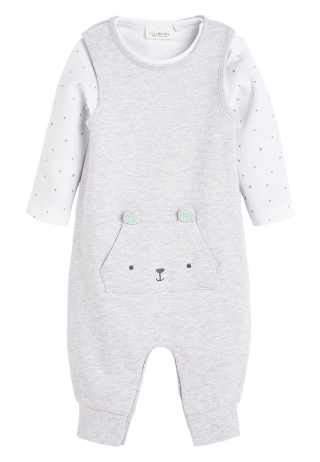 GREY GOTS ORGANIC DUNGAREES AND BODYSUIT SET (0-12MTHS) - Body - grey