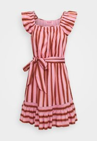 kate spade new york - CALAIS STRIPE FLUTTER DRESS - Day dress - rosy carnation - 0