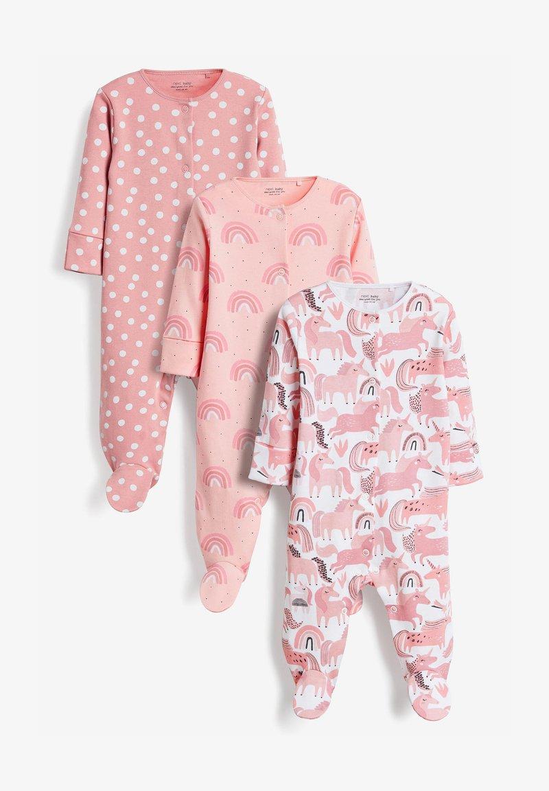 Next - 3 PACK - Sleep suit - pink