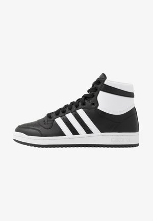 TOP TEN - Höga sneakers - core black/footwear white/core white