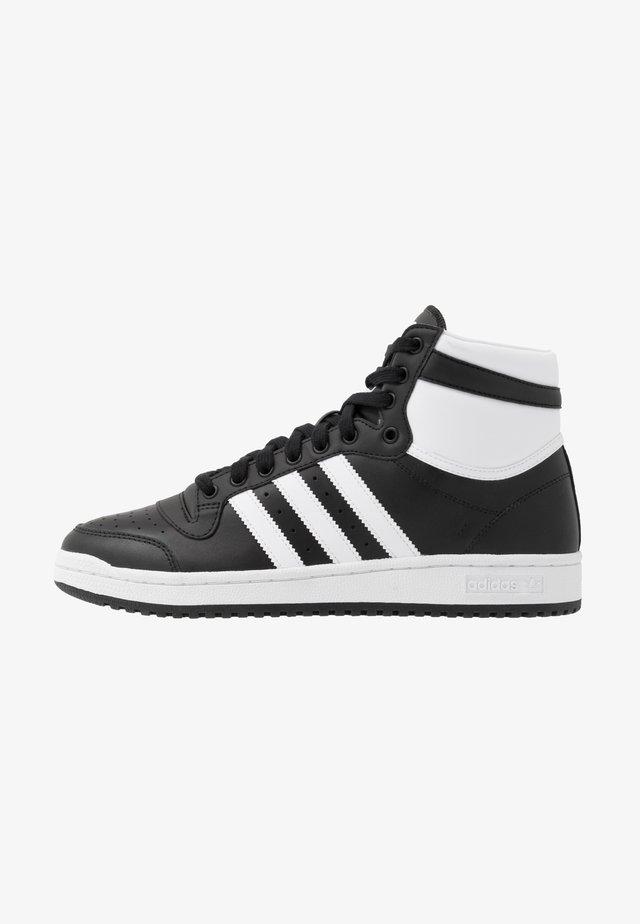 TOP TEN - Korkeavartiset tennarit - core black/footwear white/core white