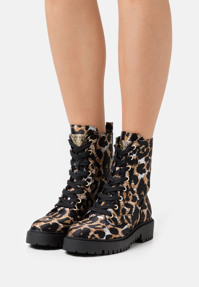 Guess - OLINIA - Lace-up ankle boots - multicolor