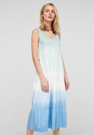 Jersey dress - turquoise tie dye