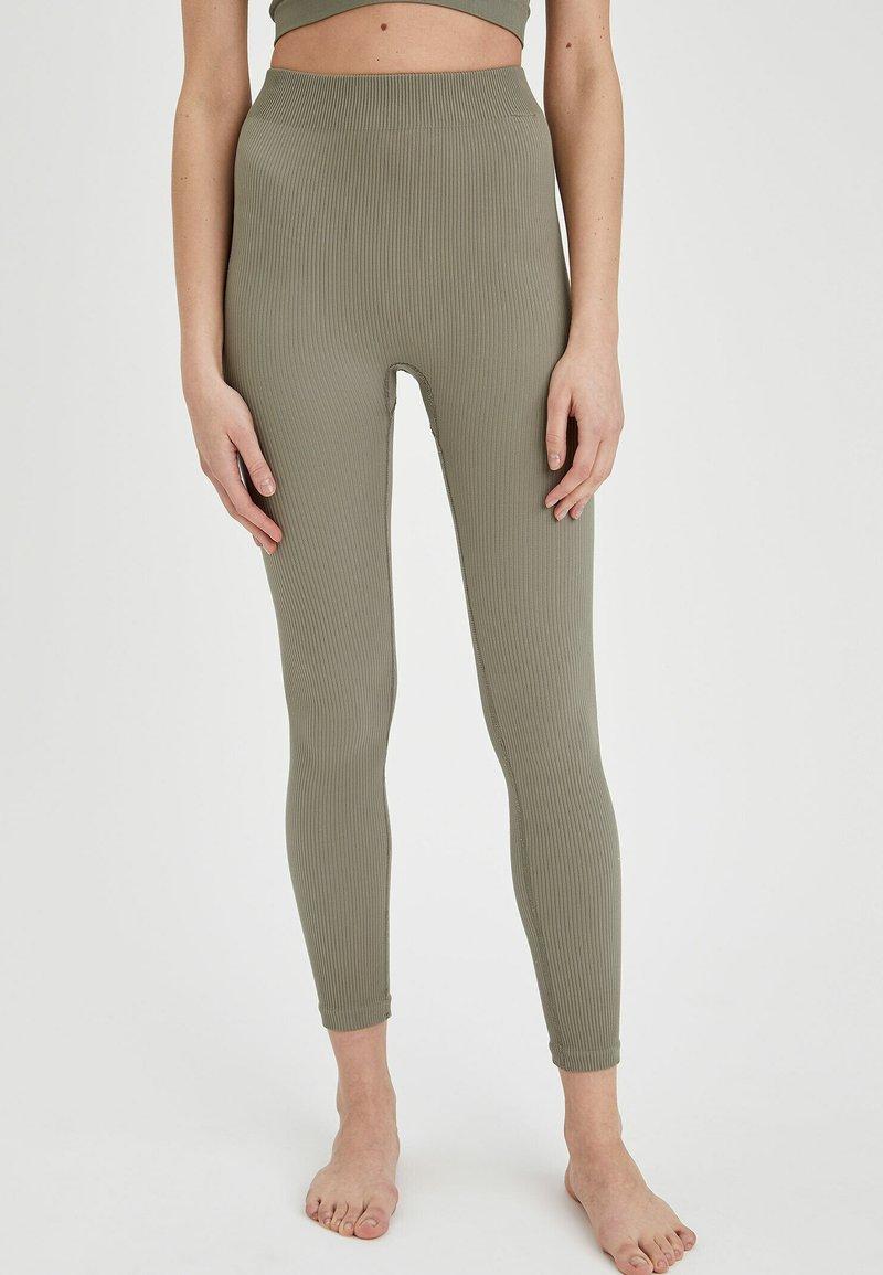 DeFacto - Leggings - Trousers - khaki