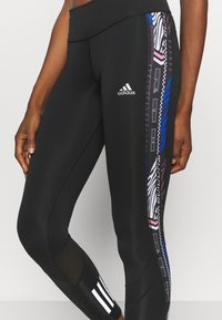 adidas Performance - OWN THE RUN - Tights - black/royal blue - 3