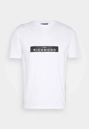 MONSTUR - Print T-shirt - white