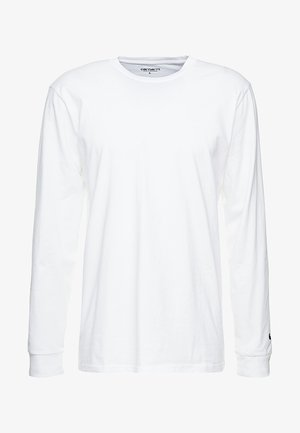 BASE - Long sleeved top - white/black