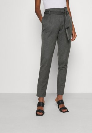VMMIYA LOOSE TIE PANT - Pantalon classique - medium grey melange