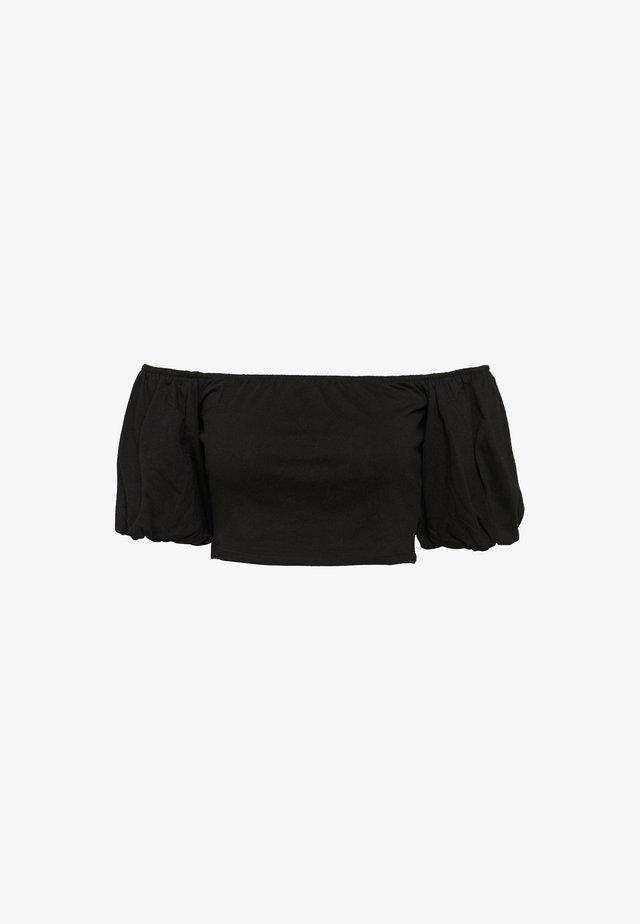 BARDOT CROP - Blouse - black