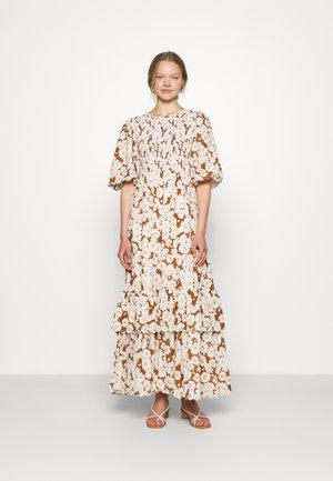 DOBBY MAXI DRESS - Maxi dress - brown