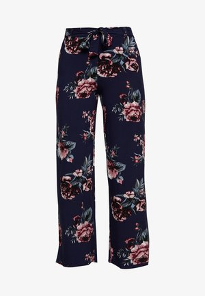 ONLNOVA LIFE PALAZZO PANT - Trousers - night sky/rose