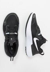 Nike Performance - REACT MILER - Neutral running shoes - black/white/dark grey/anthracite - 1