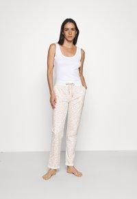 LASCANA - PANTS - Pyjama bottoms - nougat zebra - 1