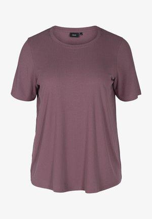 T-shirt basic - black plum