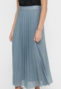 ONLY - Pleated skirt - Faded Denim - 3