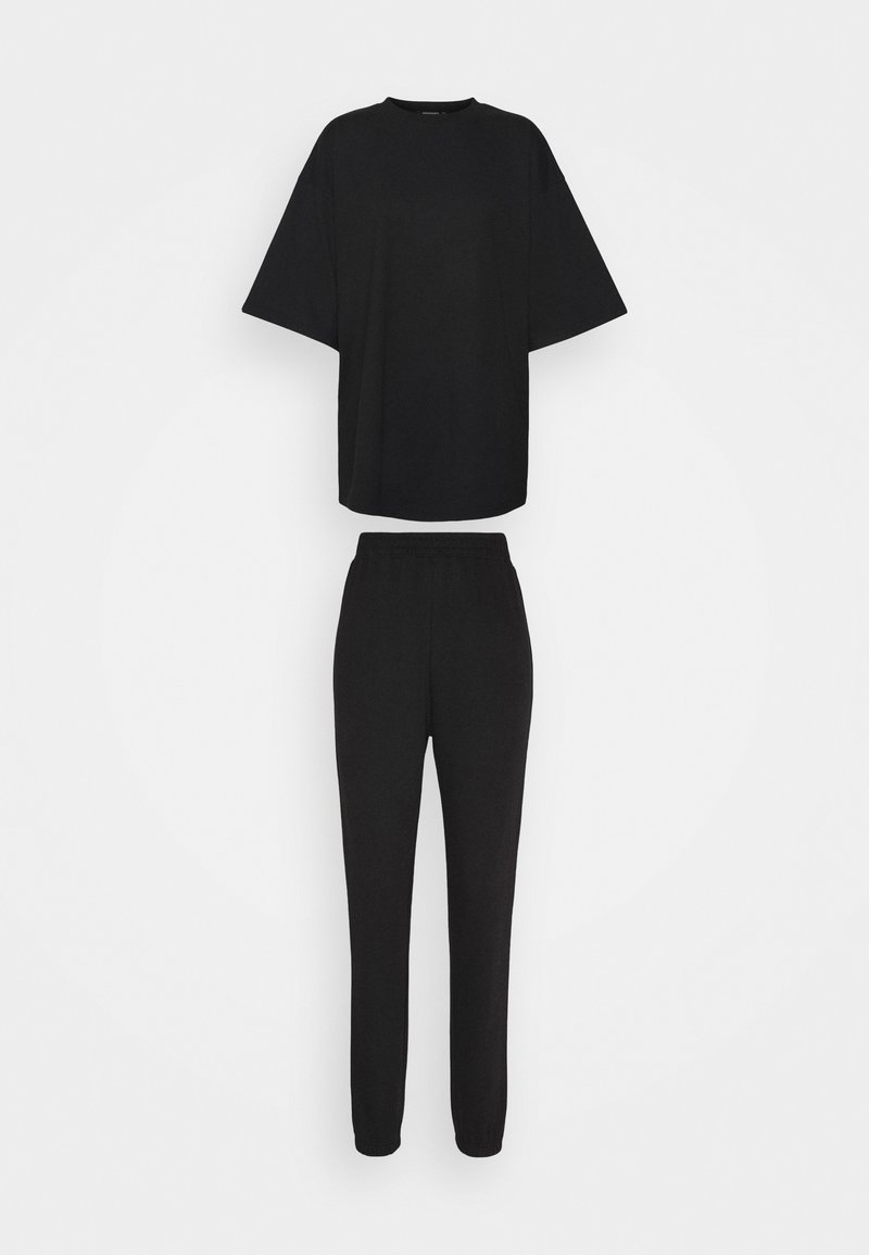 Missguided Tall - JOGGER SET - Tracksuit bottoms - black