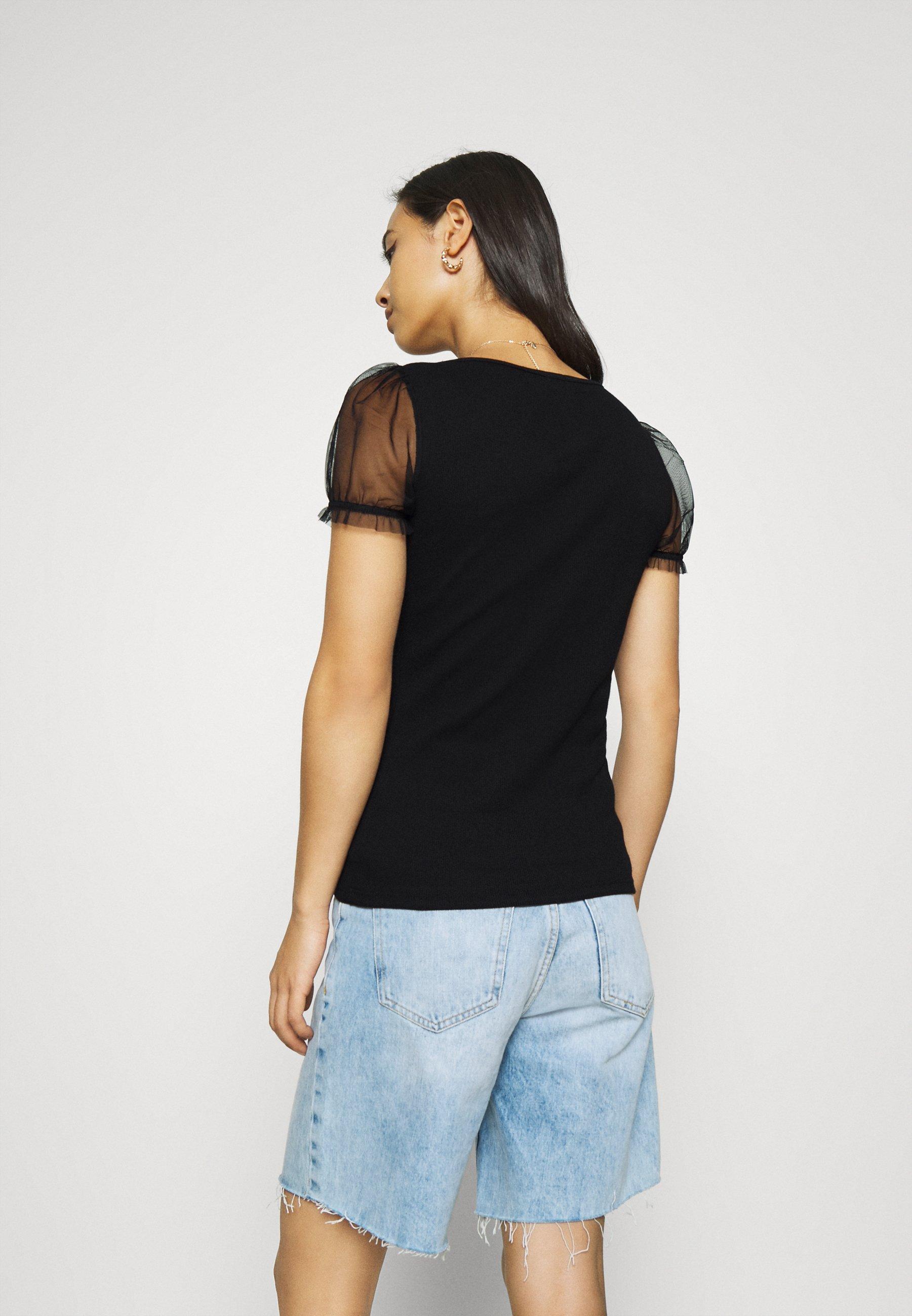 River Island T-shirts Med Print - Black/svart