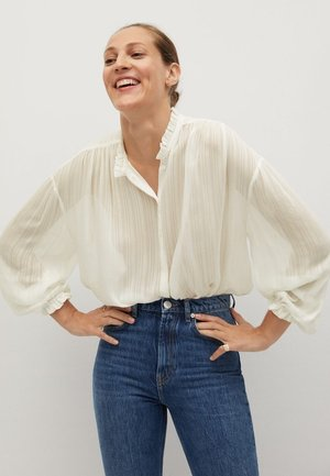 Button-down blouse - bianco sporco